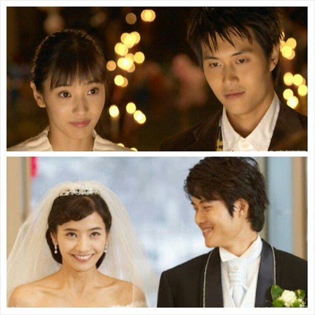Chun Hyang and Lee Mongryong wedding pictures in different times